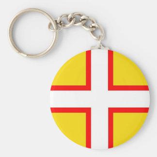 Dorset Flag Basic Round Button Key Ring