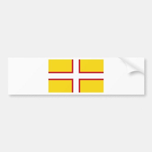 Dorset flag bumper sticker