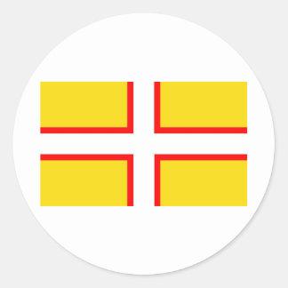 Dorset Flag Round Sticker