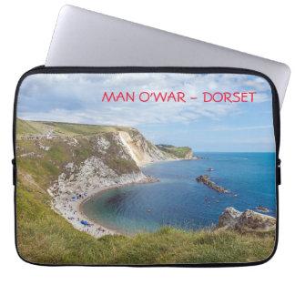 Dorset Man O'War Beach laptop sleeve
