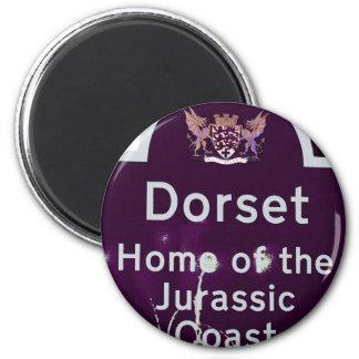 Dorset Purple 6 Cm Round Magnet