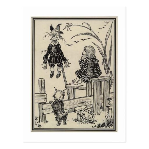 Dorthy, Scarecrow And Toto Post Cards