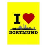 Dortmund City Skyline - Postkarte