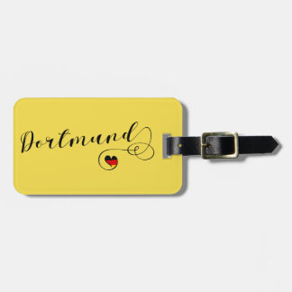 Dortmund Heart Luggage Tag Template, Germany