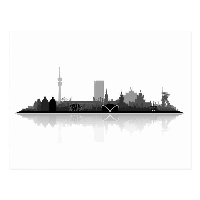 Dortmund Skyline - Postkarte / Grußkarte Postcard