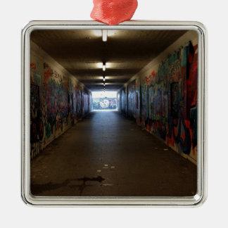 Dortmund underground graffiti at the station christmas ornament