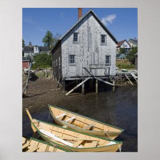 Dory builder,Lunenburg, Nova Scotia, Canada Poster