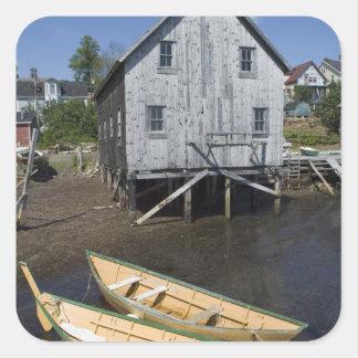Dory builder,Lunenburg, Nova Scotia, Canada Square Sticker