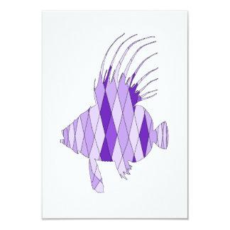 dory fish 9 cm x 13 cm invitation card