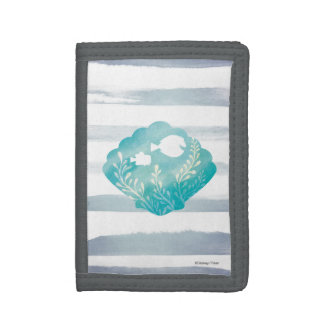 Dory & Nemo | Watercolor Shell Graphic Trifold Wallets