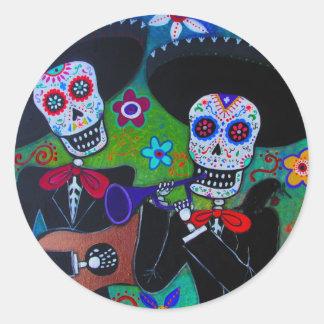 Dos Amigos Mariachi Round Sticker