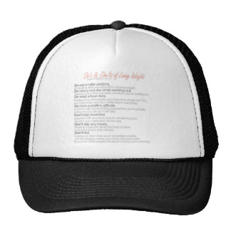 do's and don't's of losing weight mesh hat