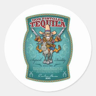 Dos Pistoles Tequila Classic Round Sticker