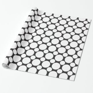 Dot 2 Black and White Wrapping Paper