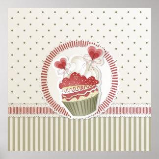 Dot Cupcake Poster