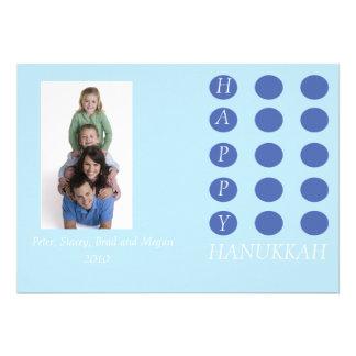 Dot Custom Card lt blue Custom Invites