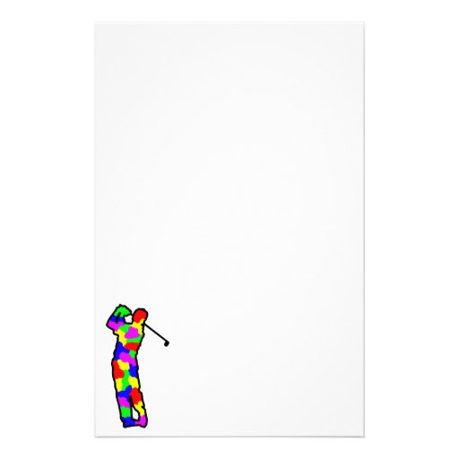 dot golfer customized stationery