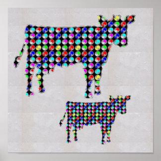 DOT painted COW pet funny pet  NavinJOSHI NVN124 Poster