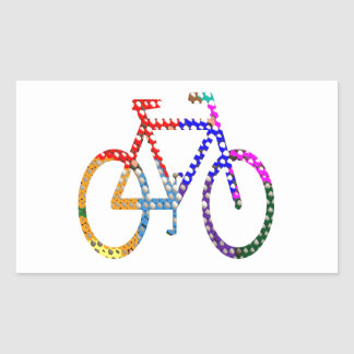 Dot Painted Cycle : Your Group Identity Rectangular Sticker