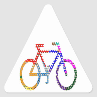 Dot Painted Cycle : Your Group Identity Triangle Stickers