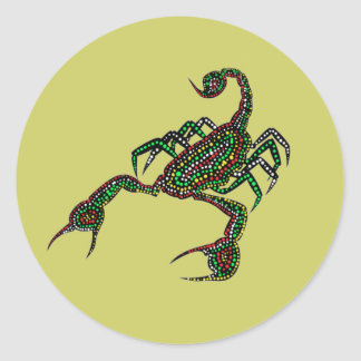 Dot painted Scorpion Sticker