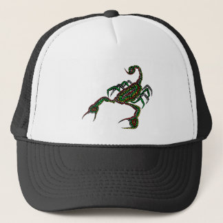 Dot painted Scorpion Truckers hat