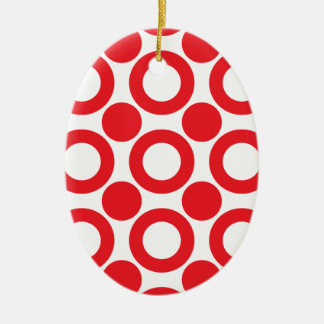 dot pattern 3 christmas ornament