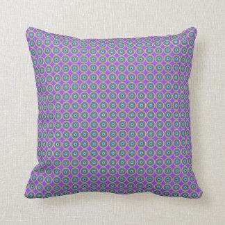 Dot Pattern - Blue Violet Purple Lavender Cushion