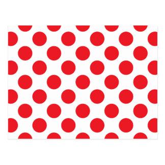 dot pattern Red Postcard