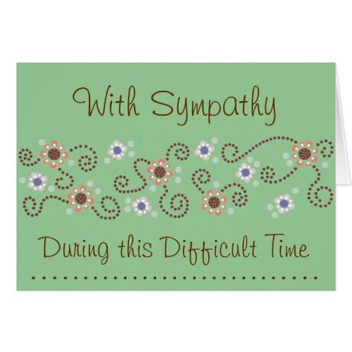 Dot Sympathy Card