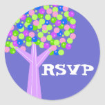 Dotberry Tree RSVP Round Sticker