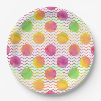 Dots 9 Inch Paper Plate