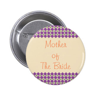 Dots and Squares Mother of The Bride Button Templ