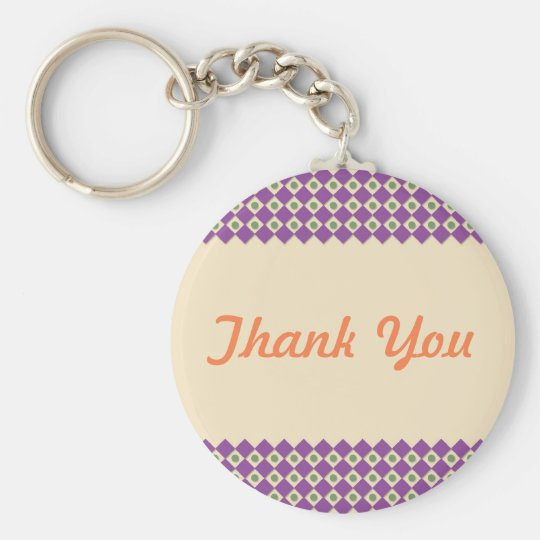 Dots and Squares Thank You Keychain Template