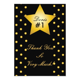 Dots And Star Thank You Card- Customize 13 Cm X 18 Cm Invitation Card