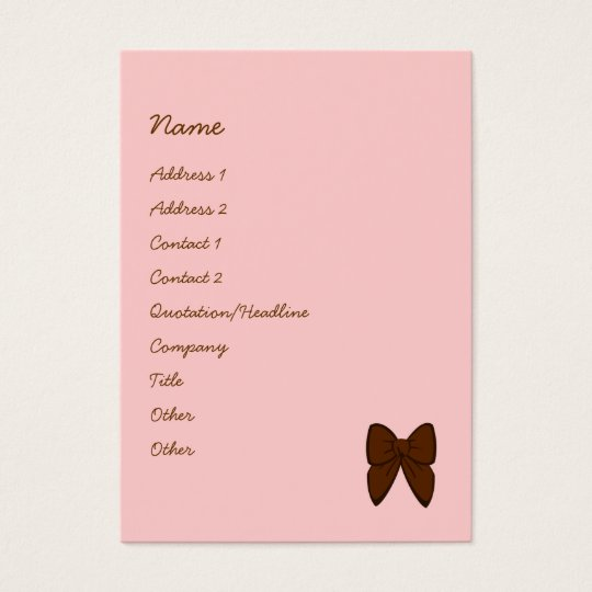 Dots and Stripes Cake Business Card