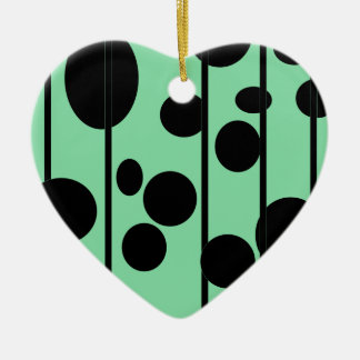 Dots and stripes christmas ornament