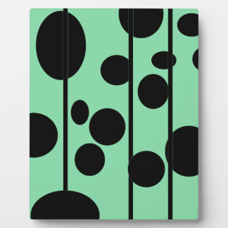 Dots and stripes display plaque