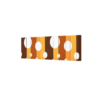 Dots and Stripes in AutumnShades Stretched Canvas Prints