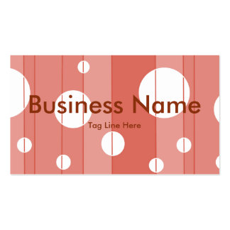 Dots and Stripes in BarnRed Business Card Template