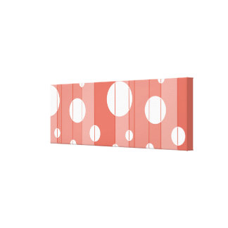 Dots and Stripes in BarnRed Gallery Wrap Canvas