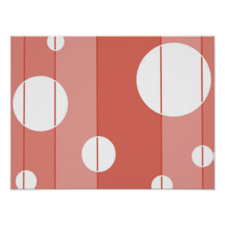 Dots and Stripes in BarnRed Poster