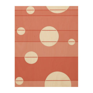 Dots and Stripes in BarnRed Wood Canvas