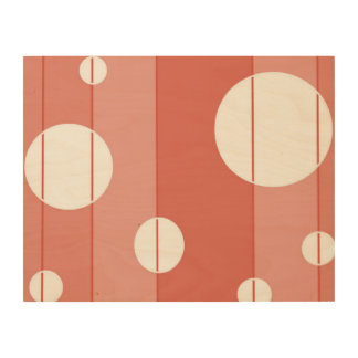 Dots and Stripes in BarnRed Wood Canvases