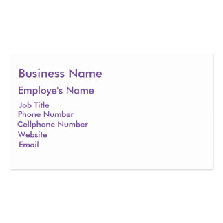 Dots and Stripes in FairytalePurple Business Card Templates