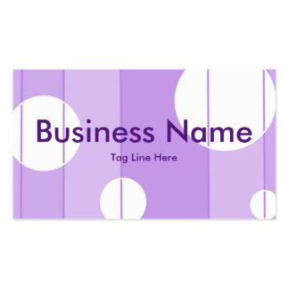 Dots and Stripes in FairytalePurple Business Card