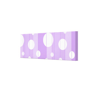 Dots and Stripes in FairytalePurple Stretched Canvas Prints
