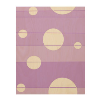 Dots and Stripes in FairytalePurple Wood Canvases
