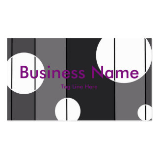 Dots and Stripes in Grey Business Cards