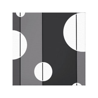 Dots and Stripes in Grey Stretched Canvas Prints